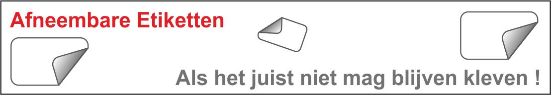 R0102 Afneembare etiketten
